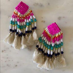 BOGO! Statement Multicolor Beaded Tassel Earrings
